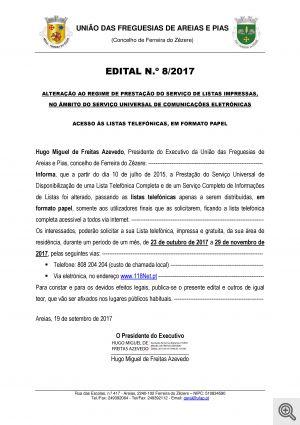 edital n.º 08 2017