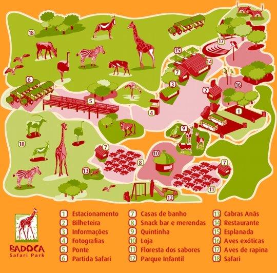 badoca safari park mapa UFAP   Areias e Pias   Passeio Pedagógico ao Badoca Safari Park badoca safari park mapa